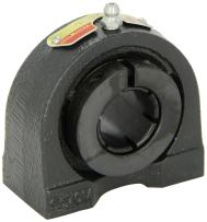 """Sealmaster TB-19T Tapped Base Pillow Block Ball Bearing, Non-Expansion Type, Normal-Duty, Regreasable, Skwezloc Collar, Felt Seals, Cast Iron Housing, 1-3/16"""" Bore, 1-11/16"""" Base to Center Height, 3"""" Bolt Hole Spacing Width"""