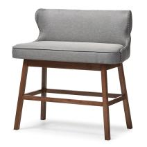 Baxton Studio Bar Bench, Gray