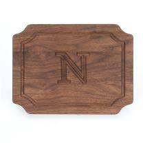 """BigWood Boards W300-N Cutting Board, Monogrammed Wedding Gift Cutting Board, Small Cheese Board, Walnut Wood Serving Tray,""""N"""""""