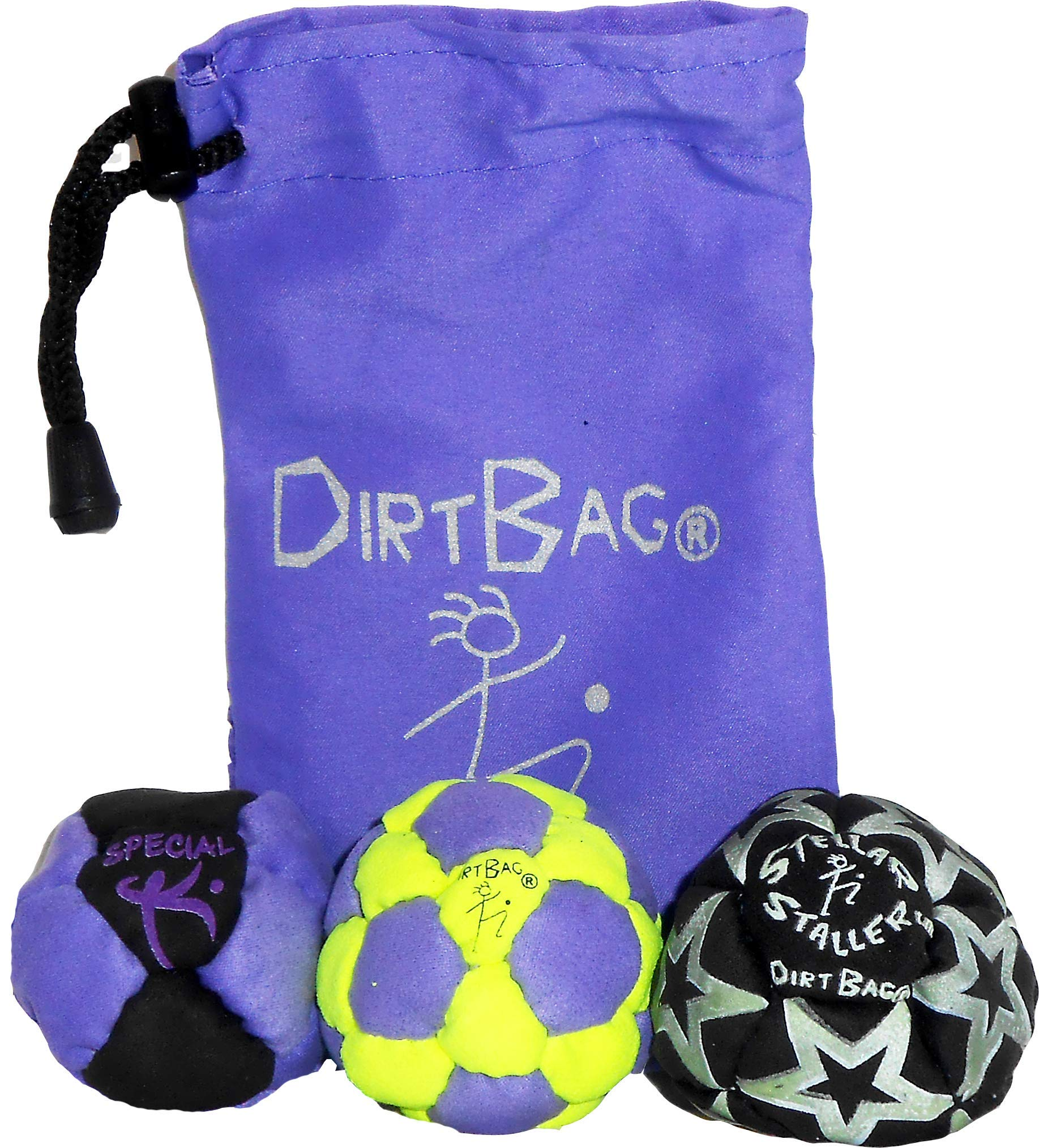 DirtBag Medley Footbag Hacky Sack 3 Pack with Pouch