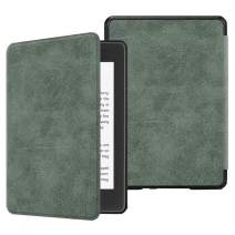Fintie Slimshell Case for All-New Kindle Paperwhite (10th Gen, 2018 Release) - Premium Lightweight PU Leather Cover with Auto Sleep Wake for Amazon Kindle Paperwhite E-Reader, Rustic Green