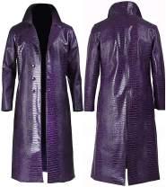 Cosplay Life Joker Patent Leather Coat Cosplay Costume for Men