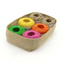 BambooMN 75 Yard, 2mm Crafty Jute Twine String - Jute - 6x Assortment C