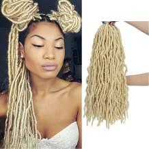 FUT_Forever Nu Faux Locs Crochet Hair 18 Inch Nu Soft Locs Crochet Braids 7 Packs Premium Fiber Synthetic Hair Hair Extensions with 1 Crochet & 15 Hair Loops (18inch,613#)