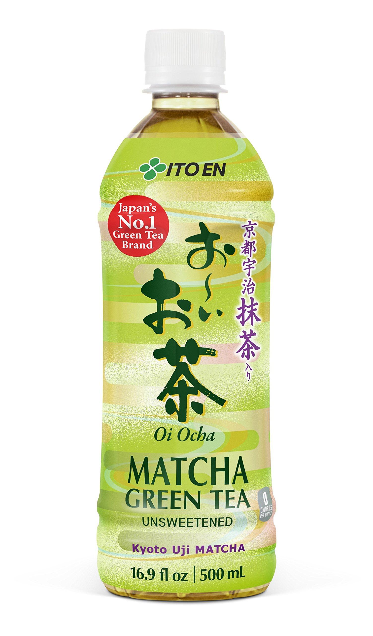 Ito En Oi Ocha Matcha Green Tea, Unsweetened, 16.9 Ounces (Pack of 12)