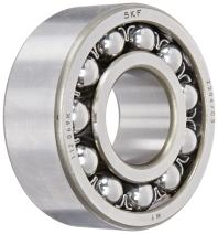 SKF 2306/C3 Double Row Self-Aligning Bearing, ABEC 1 Precision, Open, Steel Cage, C3 Clearance, Metric, 30mm Bore, 72mm OD, 27mm Width