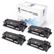 Spektrum Toner Compatible Cartridge Replacement (4-Pack) for HP 05A (Black) CE505A / 05X / CE505X / CE505D for HP Laserjet P2035 P2035n P2050 P2055 P2055d P2055dn P2055x