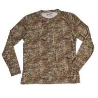 Duck Camp Men's Lightweight Bamboo Long Sleeve Crew Fishing Shirt   Midland Camouflage