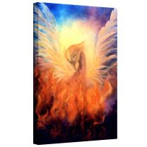 Art Wall Marina Petro Phoenix by Rising Gallery Wrapped Canvas Art, 24 by 16-Inch