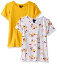 Limited Too Girls' 2 Pack Short Sleeve Knit Fashion T-Shirt