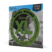 D'Addario Nickel Wound Electric Guitar Strings, 1-Pack, Med. Top/X-Hvy. Bottom, 11-56