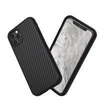RhinoShield Case Compatible with [iPhone 11 Pro] | SolidSuit - Shock Absorbent Slim Design Protective Cover with Premium Matte Finish 3.5M / 11ft Drop Protection - Carbon Fiber Finish - Black