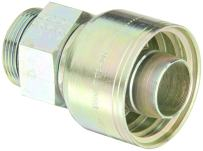 """Aeroquip 1AA24MB24 Carbon Steel Global TTC (Thru the Cover) Crimp Hose Fitting Male Boss O-Ring, Straight, 1-1/2"""" Hose ID, 1-7/8"""" - 12 Thread"""