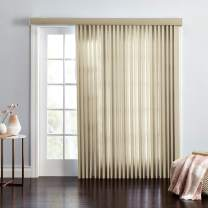 BrylaneHome Embossed Vertical Blinds - 78I W 63I L, Putty