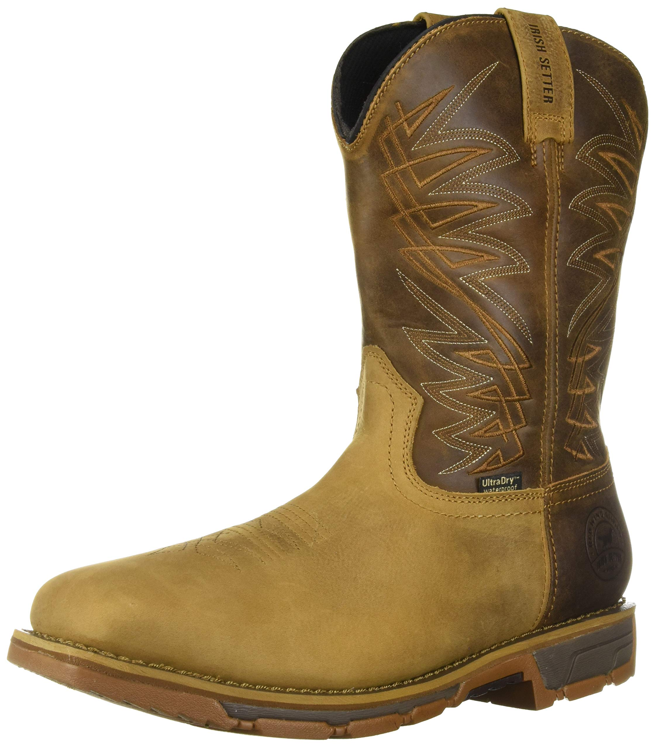 "Irish Setter Men's Marshall 11"" Pull-on Square Toe Waterproof Work Boot"