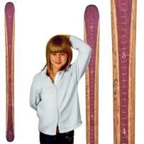 Growth Chart Art | Wooden Ski Growth Chart | Baby Skis | Ski Gifts | Wall Hanging Wood Height Chart for Measuring Kids, Children, Boys, Girls | Mulberry