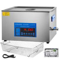 Mophorn 28/40khz Dual Frequency Ultrasonic Cleaner 304 Stainless Steel Digital Lab Ultrasonic Cleaner with Heater Timer for Jewelry Watch Glasses Circuit Board Small Parts(28/40khz,22L)