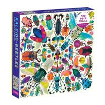 """Mudpuppy Kaleido-Beetles Puzzle, 500 Pieces, 20"""" x 20"""" – Ages 8+ – Colorful Beetles Arranged in a Kaleidoscope View Pattern – Fun and Challenging, Perfect Family Puzzle"""