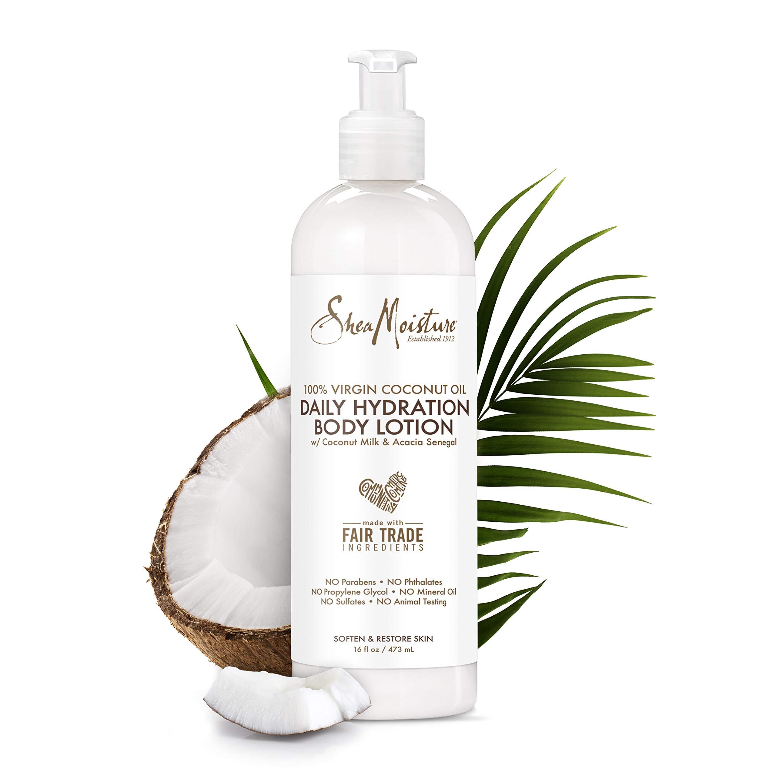 Shea Moisture 100% Virgin Coconut Oil Daily Hydration Body Lotion, 16 Ounces