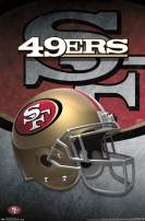 "Trends International NFL San Francisco 49ers - Helmet, 14.725"" x 22.375"", Premium Unframed"