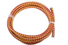 KONMAY Round Braided Genuine Bolo Leather Cord for Jewelry and Craft Designs (5.0mm, Red&Yellow)