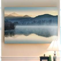 Renditions Gallery Landscape Pictures Artwork Giclee Print Canvas Art Ready to Hang for Home Wall Decor, 32x48, Quiet Morning