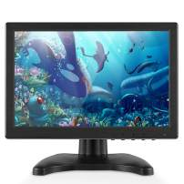 TOGUARD IPS Portable Monitor for Laptop 10.1 Inch Computer Display Screen 1920x1200 HD with AV/VGA/HDMI/BNC/USB Output for PC CCTV Camera Security Gaming Monitor at 178° Wide Viewing Angle