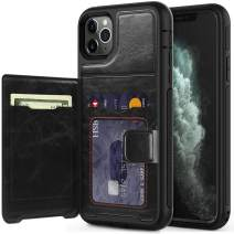 timecity iPhone 11 Pro Max Wallet Case with Card Holder,PU Leather Kickstand Card Slots Case.with Magnetic Clasp and Durable Shockproof Cover for iPhone 11 Pro Max 6.5 Inch 2019 Release - Black