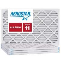 Aerostar 16 1/2x21 1/2x1 MERV 11, Pleated Air Filter, 16 1/2x21 1/2x1, Box of 4, Made in The USA