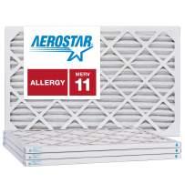 Aerostar 14x30x1 MERV 11, Pleated Air Filter, 14x30x1, Box of 4, Made in The USA
