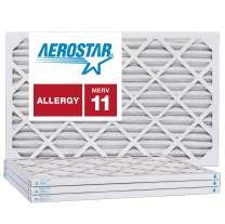 Aerostar 10x24x1 MERV 11, Pleated Air Filter, 10x24x1, Box of 4, Made in The USA