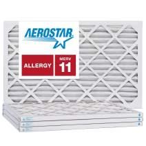 Aerostar 18x25x1 MERV 11, Pleated Air Filter, 18x25x1, Box of 4, Made in The USA