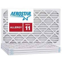 Aerostar 22x28x1 MERV 11, Pleated Air Filter, 22x28x1, Box of 4, Made in The USA
