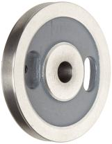 """Boston Gear G1208 Spoked Grooved Pulley, 0.625"""" Bore, Fits Round Belts 0.375"""" or Smaller, 0.500"""" Face, 1.625"""" Hub Diameter, 6.000"""" Outside Diameter, Iron"""