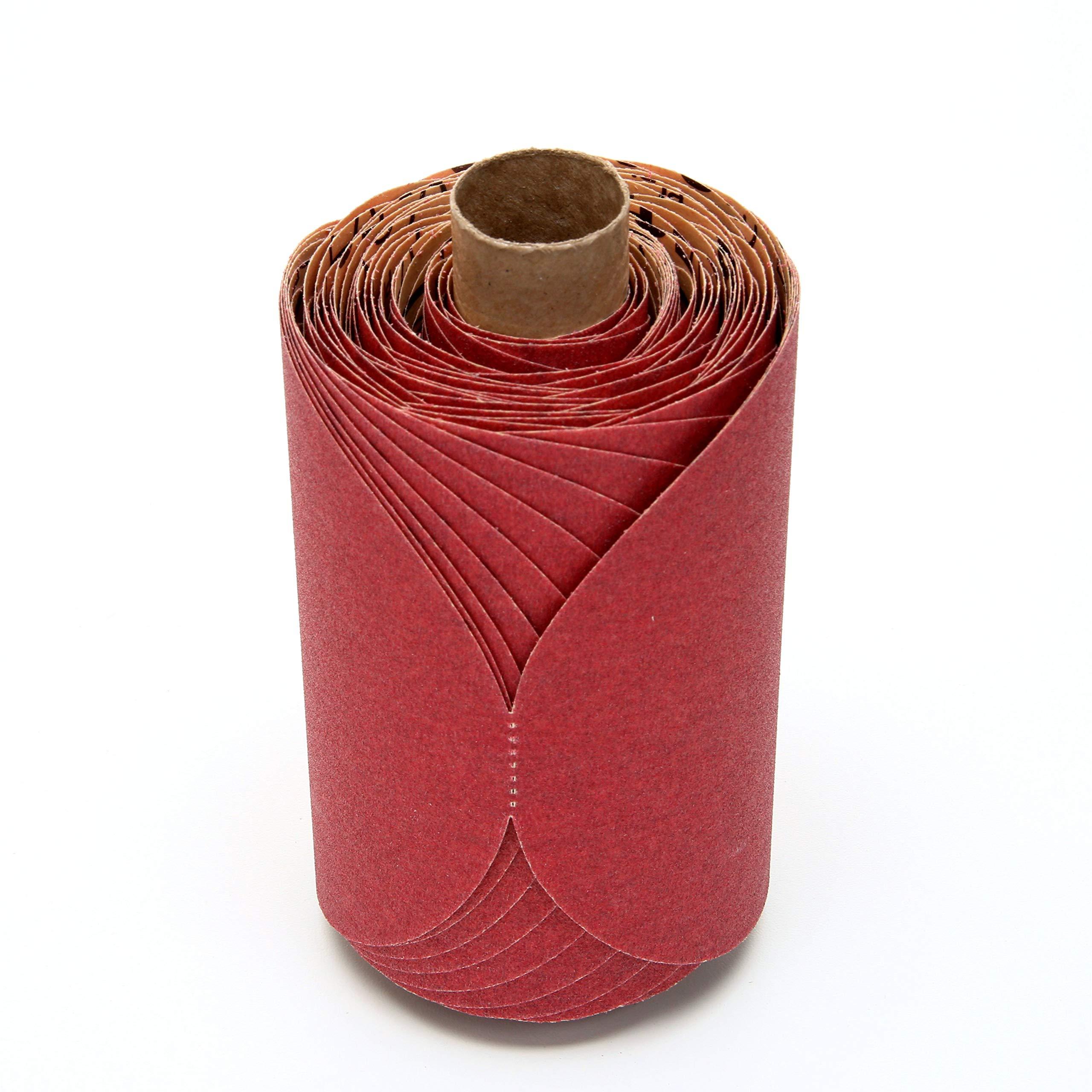 3M Red Abrasive PSA Disc, 01607, 5 in, P150, 100 discs per roll