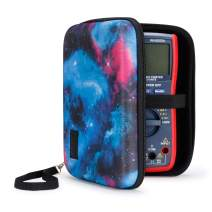 USA Gear Hard Digital Multimeter Carrying Case - Voltage Tester Travel Case, Weather Resistant, Wrist Strap, Storage for Leads and Probes - Compatible with Fluke, AstroAI WH5000A and More - Galaxy