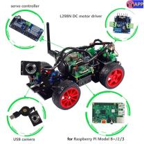 SunFounder Smart Video Car Kit Raspberry Pi DIY Robot Kit for Kids Adults Compatible with RPi 3 Model B+ B 2B (Pi Not Included)