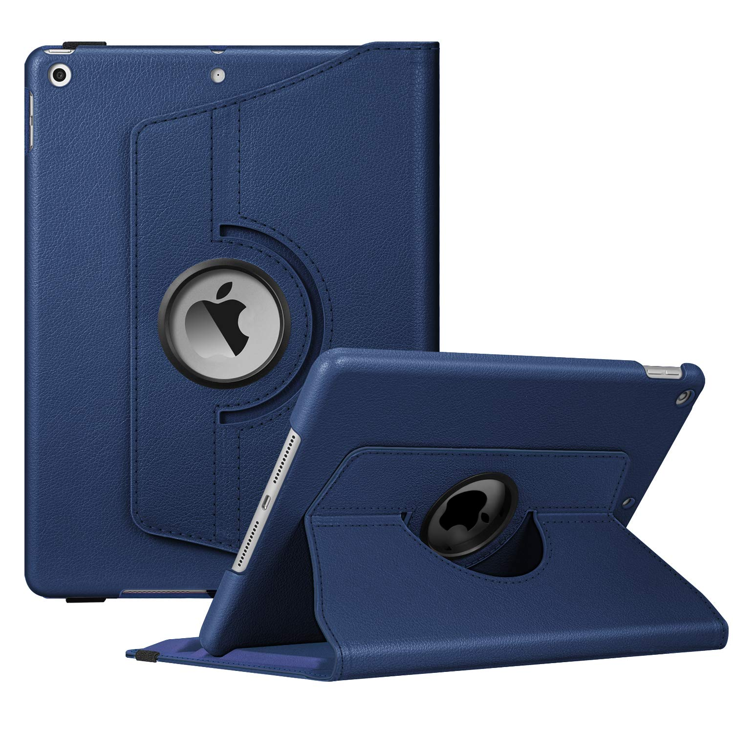 """Fintie Rotating Case for New iPad 7th Generation 10.2 Inch 2019 - [Built-in Pencil Holder] 360 Degree Rotating Smart Protective Stand Cover with Auto Sleep/Wake for iPad 10.2"""" Tablet, Navy"""