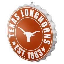 FOCO NCAA Bottle Cap Wall Sign, Texas Longhorns