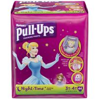 Pull-Ups Night Time Training Pants for Girls, 3T-4T, 42 Count (Pack of 2)