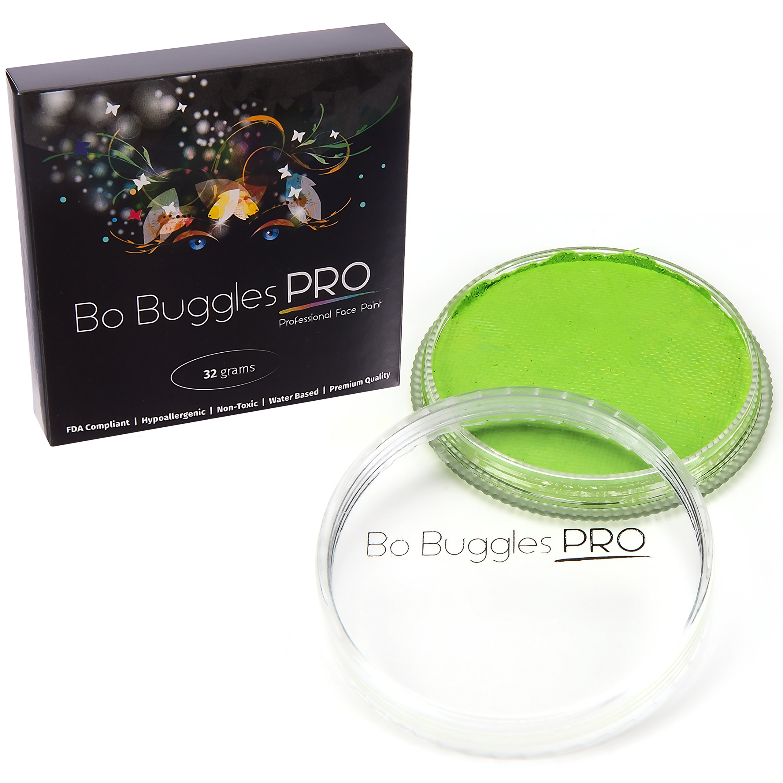 Bo Buggles Professional Lime 32g Face Paint, Classic Colors, Water Activated