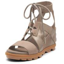 Sorel - Women's Joanie II Ankle Lace, Leather and Suede Sandal with Wedge Heel
