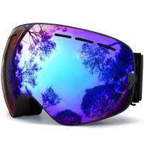 Hongdak Ski Goggles, Snowboard Goggles UV Protection, Snow Goggles Helmet Compatible for Men Women Boys Girls Kids, Anti