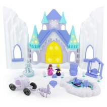 Boley Ice Castle Princess Dollhouse - 26 Piece Doll House Toy Playset with Large Light and Sound Castle, Little Princesses, Palace Furniture and Frozen Kingdom Garden for Little Girls