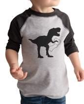 7 ate 9 Apparel Kids Dinosaur Toilet Paper Quarantine Shirt Grey
