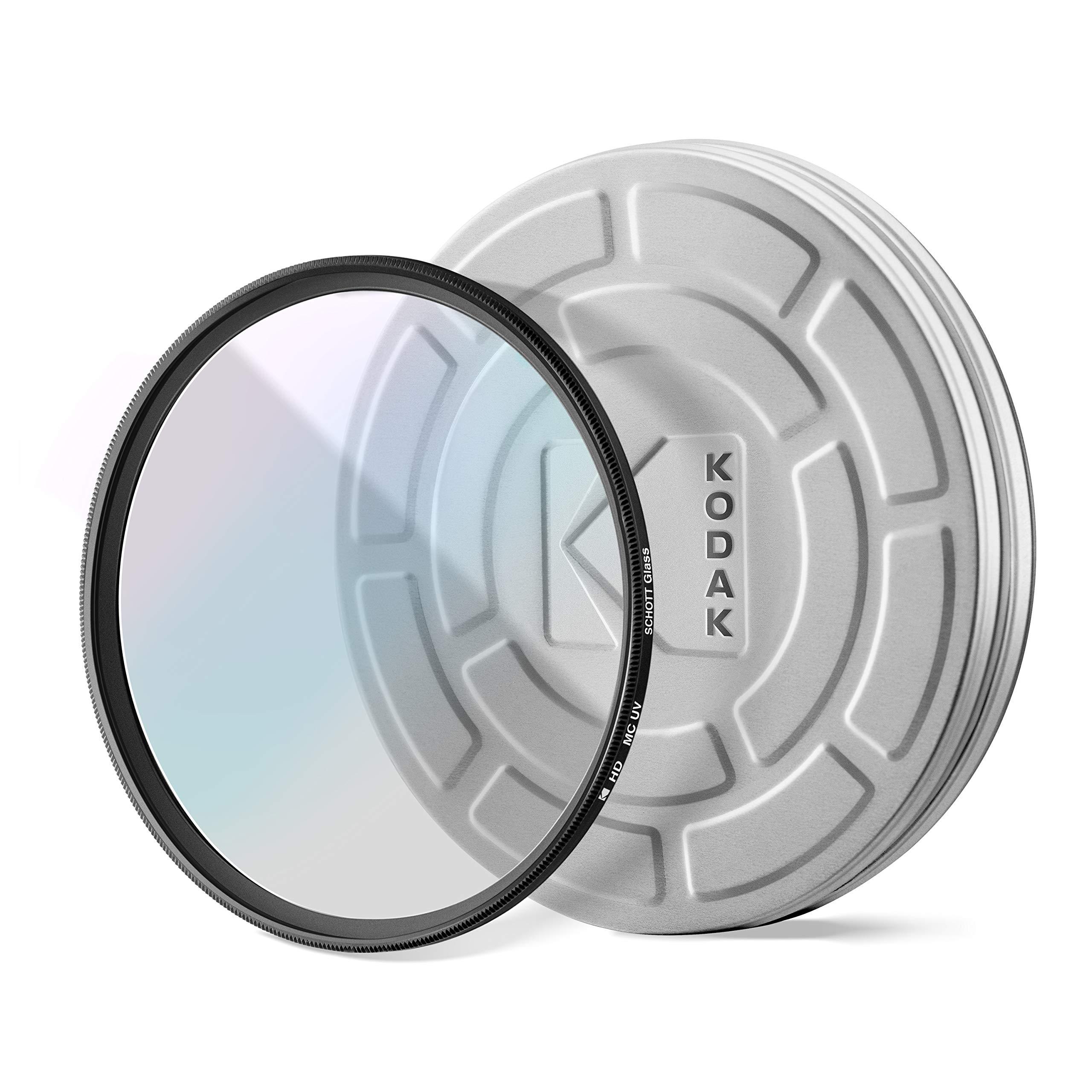 KODAK 52mm UV Filter | German Schott Glass Premium Ultraviolet Filter, Slim 18-Layer Polished Coating | Absorbs Atmospheric Haze Protects Lens & Improves Sharpness & Contrast, 99% Light Transmittance