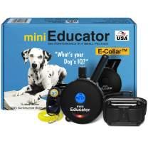 Educator - ET-300 / ET-302 Black - Ecollar Dog Training Collar with Remote Control - 1/2 Mile Range, Waterproof, Rechargeable, 100 Training Stimulation Levels, Vibration and Tone W/PetsTEK Clicker