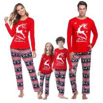 iClosam Family Matching Pajamas Set Casual Pajamas Holiday Pjs for Women/Men/Boys/Girls