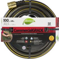 """Swan Products ELIH58100 Element CommercialGRADE Industrial Water Hose with Crush Proof Couplings 100' x 5/8"""", Black"""