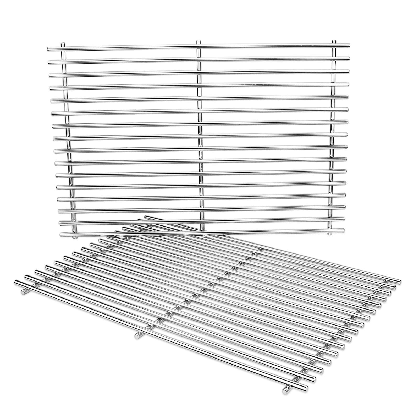 Grisun 17 3 Inch 7639 Cooking Grates For Weber Spirit 300 Series 304 Stainless Steel Grates For Spirit E310 E320 S310 S320 Spirit 700 Weber 900 Genesis Silver B Grill Grate Part 7638 65906